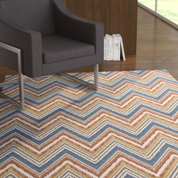 Cory Multi Chevron Area Rug by Ebern Designs