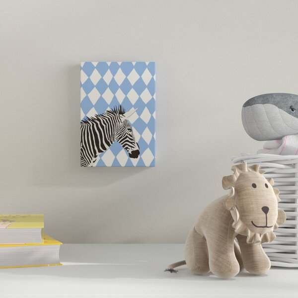 Zebra Graphic Art on Wrapped Canvas by Zoomie Kids