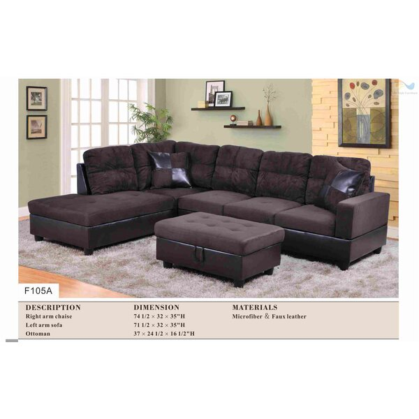 Bothwell Sectional with Ottoman by Red Barrel Studio