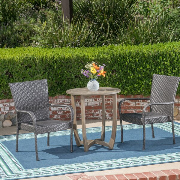 Mansfield 3 Piece Bistro Set by Ebern Designs