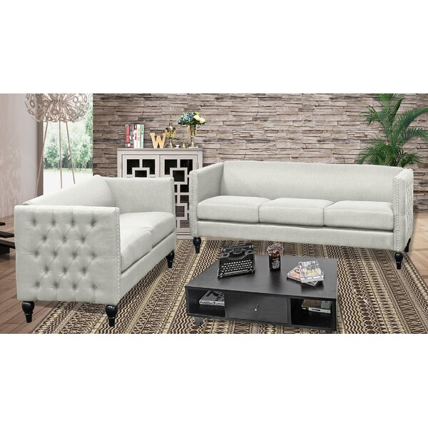 Marrs Modern 2 Piece Living Room Set by House of Hampton