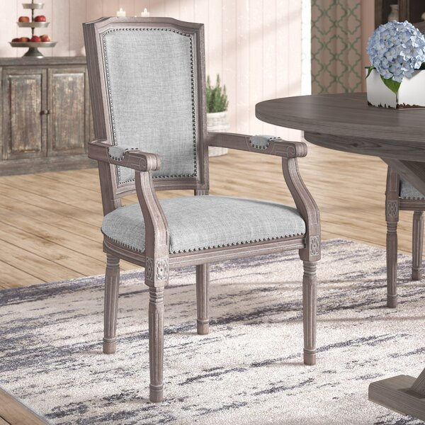 Varnado Vintage French Upholstered Dining Chair by Ophelia & Co.