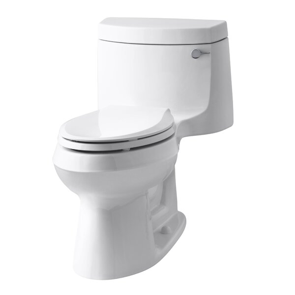 Cimarron Comfort Height One-Piece Elongated 1.28 GPF Toilet with Aquapiston Flush Technology and Right-Hand Trip Lever by Kohler