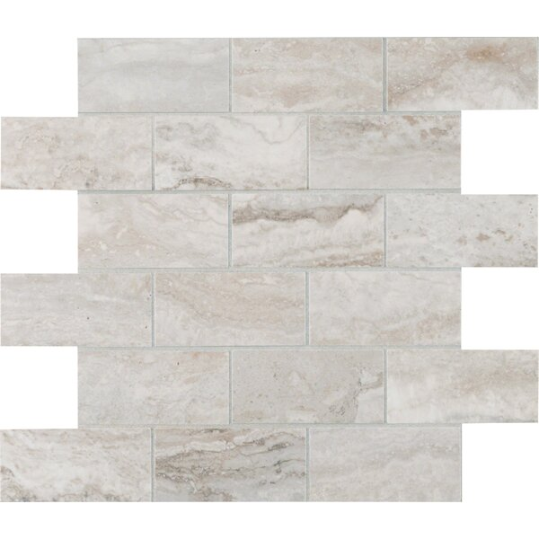 Bernini Pietra Camo Polished 2 x 4 Porcelain Subway Tile in Gray by MSI