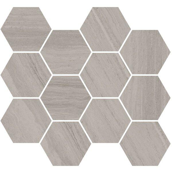 Coastline Monterey 3.5 x 3.5 Porcelain Mosaic Tile in Gray by Madrid Ceramics