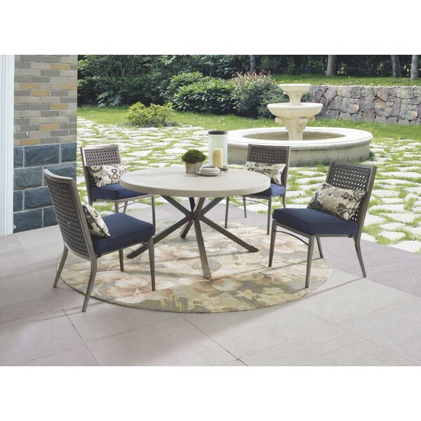 Parsons Patio Dining Chair with Cushion (Set of 4) by Wildon Home®