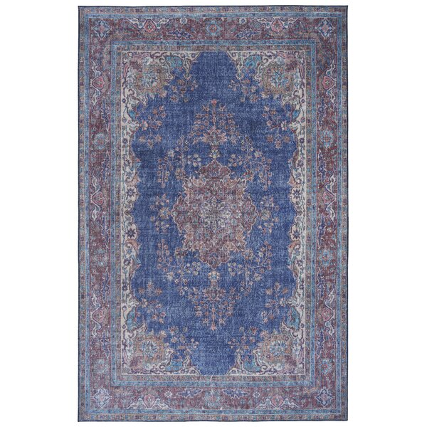 Olinger Blue Indoor/Outdoor Area Rug by Bungalow Rose