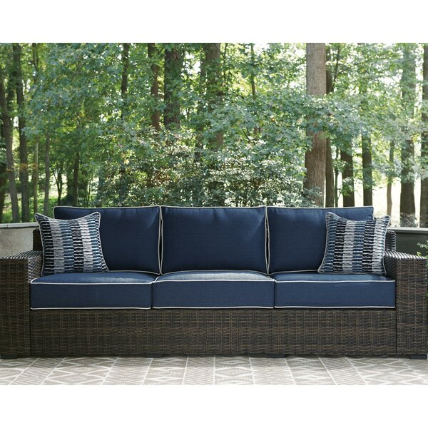 Loganville Patio Sofa with Cushions by Bay Isle Home