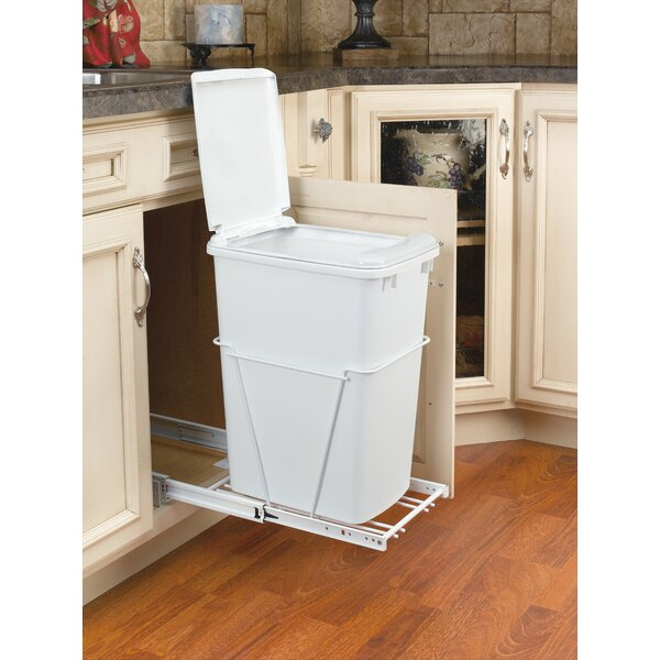 8.75 Gallon Pull Out/Under Counter Pull Out/Under Counter Trash Can by Rev-A-Shelf