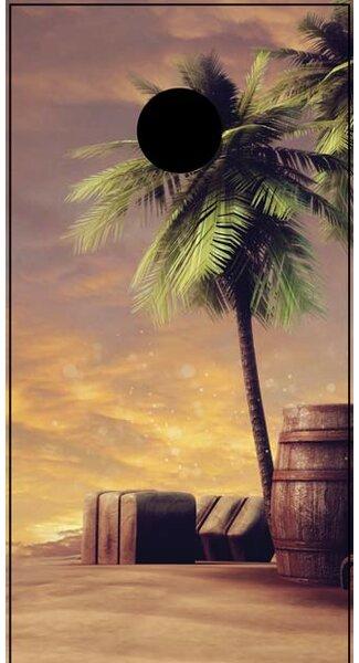Palm Tree Cornhole Board by Lightning Cornhole
