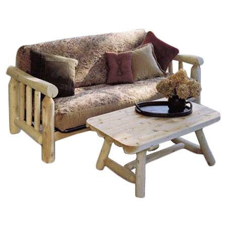 Log Futon Frame by Rustic Natural Cedar Furniture