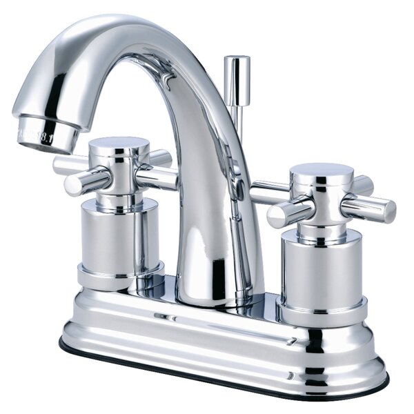 Concord Centerset Bathroom Faucet With Brass Pop-Up Drain By Kingston Brass