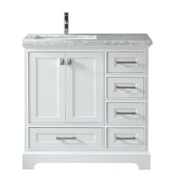 Haxby 36 Wall Mounted Single Bathroom Vanity by Highland Dunes
