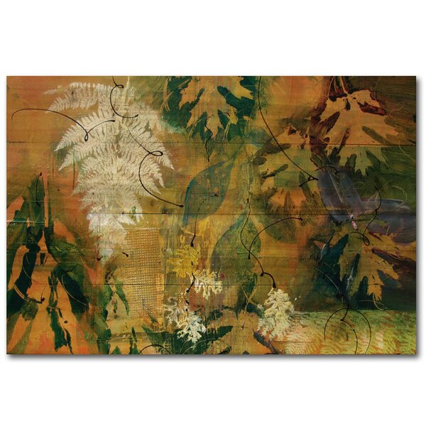 Leaves Maple and FernPainting Print Plaque by WGI-GALLERY