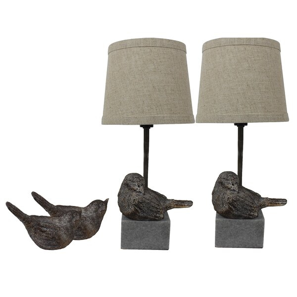 Simran Bird II 14 Table Lamp (Set of 2) by Ophelia & Co.
