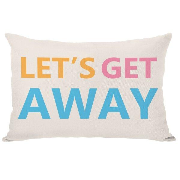 Lets Get Away Lumbar Pillow by One Bella Casa