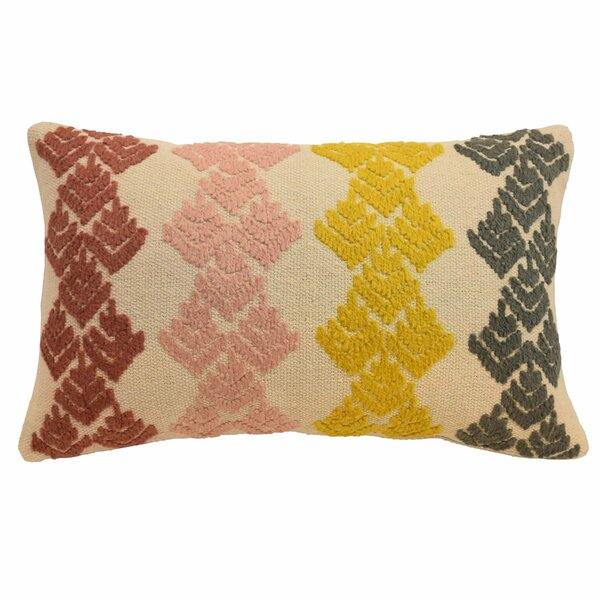 Dina Embellished Lumbar Pillow by Blissliving Home