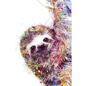 'Sloth' By Vee Bee Graphic Art Print on Wrapped Canvas by East Urban Home