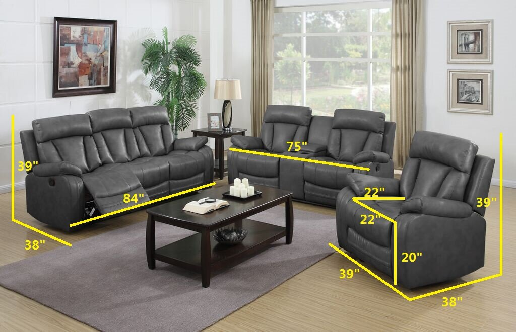 NathanielHome Benjamin 3 Piece Living Room Set & Reviews | Wayfair