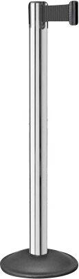 Contempo 7.5 Ft. Retractable Chrome Belt Stanchion (Set of 2) by Lavi Industries