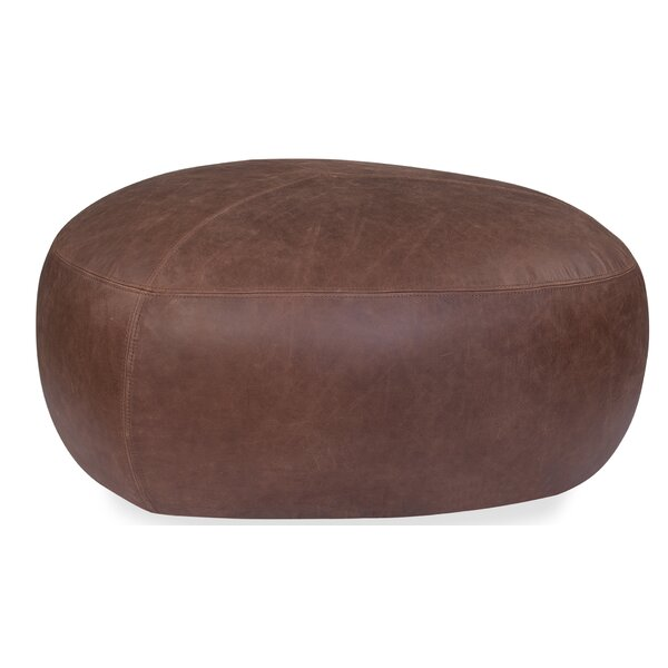 Ardin Leather Pouf By Union Rustic