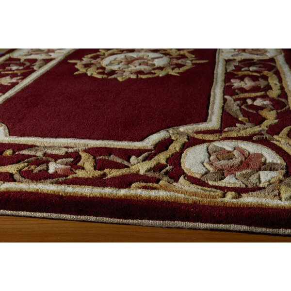 Laurel Hand-Tufted Wool Burgundy Area Rug by Astoria Grand