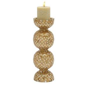 Mosaic Metal Candlestick