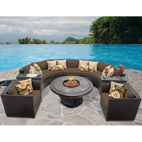 Tegan 8 Piece Rattan Sectional Seating Group with Cushions by Sol 72 Outdoor