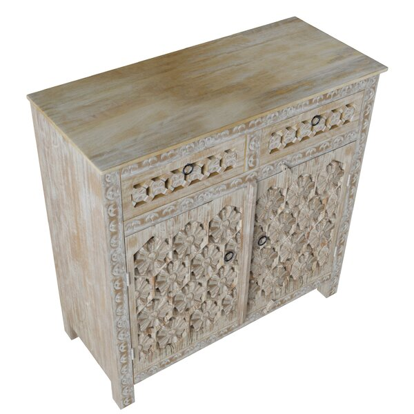 Sneek 2 Door Accent Cabinet by Bungalow Rose Bungalow Rose
