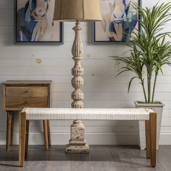 Peraza Wood Bench by Bungalow Rose