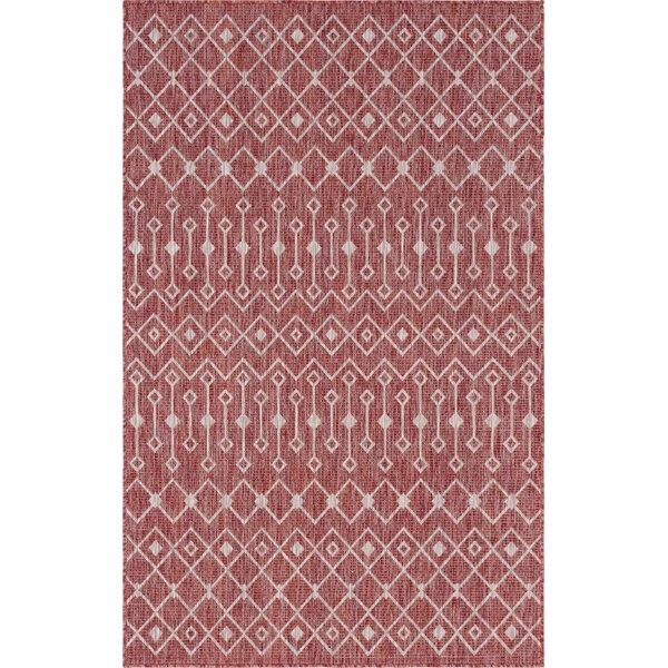 Julieta Red/White Indoor/Outdoor Area Rug by Gracie Oaks