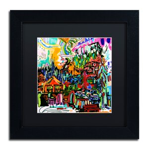 'A Nice Place to Live' Framed Graphic Art Print by Trademark Fine Art