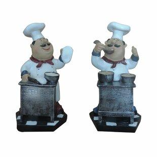Cuthbert Fat Chef Decor Tasting Food 2 Piece Figurine Set  sc 1 st  Wayfair & Fat Chef Plates | Wayfair