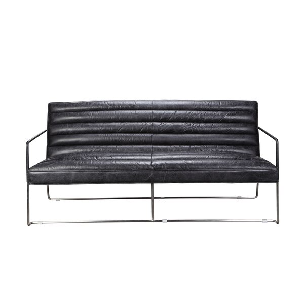 On Sale Brinkman Leather Loveseat by Brayden Studio by Brayden Studio