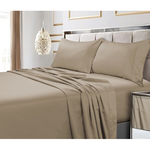 Hiram 600 Thread Count 6-Piece Egyptian Quality Cotton Sateen Deep Pocket Sheet Set by August Grove