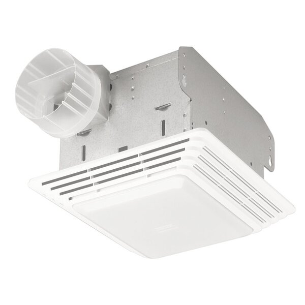 Heavy Duty 50 CFM Bathroom Exhaust Fan with Light by Broan