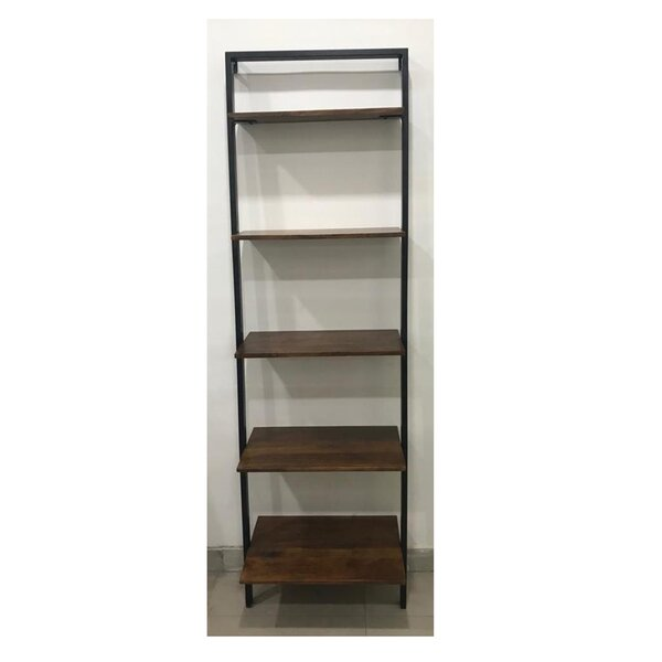 Torrens Mango Wood and Iron Standard Bookcase by Williston Forge