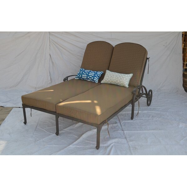 Kristy Double Reclining Chaise Lounge with Cushion