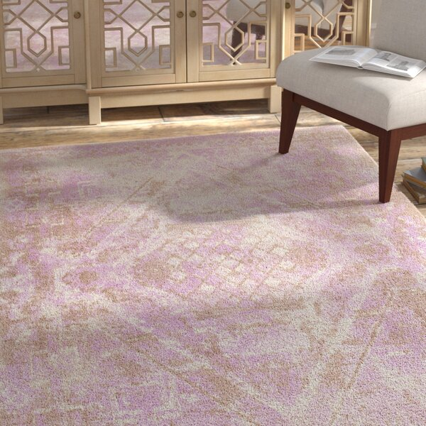 Cristal Hand-Tufted Pink/Brown Area Rug by Bungalow Rose