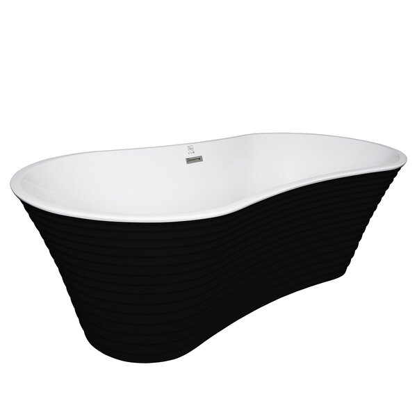 Acrylic Spa 66.5 x 33.5 Freestanding Soaking Bathtub by AKDY