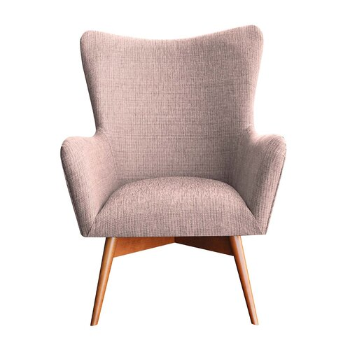 Wesley Wingback Chair Happy Barok Upholstery: Pink