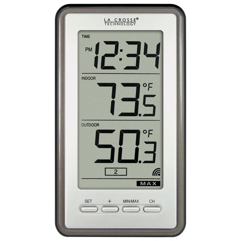 La Crosse Technology Wireless Indoor/Outdoor Thermometer with ...