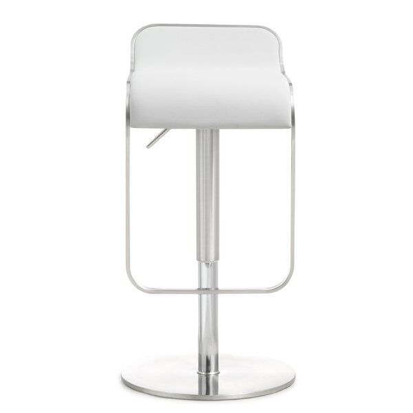 Serenity Adjustable Height Swivel Bar Stool by Orren Ellis