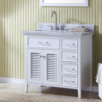 Left Offset Single Bathroom Vanity Set Mirror Product Photo