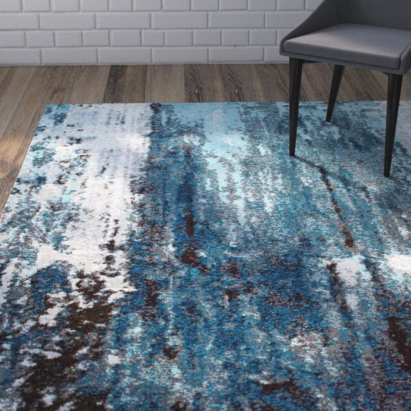 Elliott Blue/Gray Area Rug by Wrought Studio