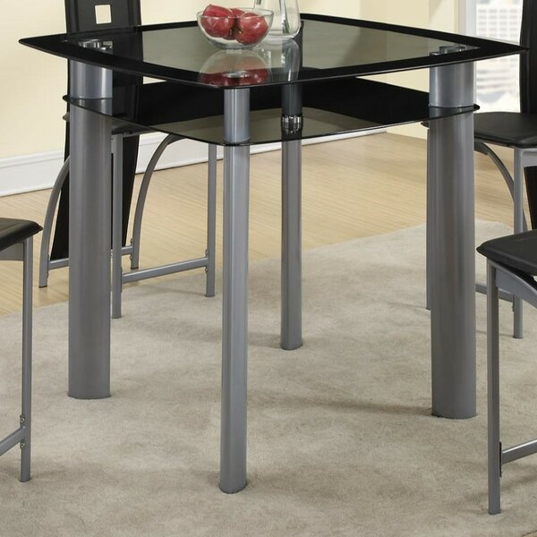 Gantz Glass Counter Height Dining Table by Ebern Designs