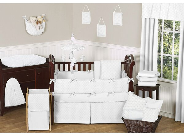 Minky Dot 9 Piece Crib Bedding Set by Sweet Jojo Designs