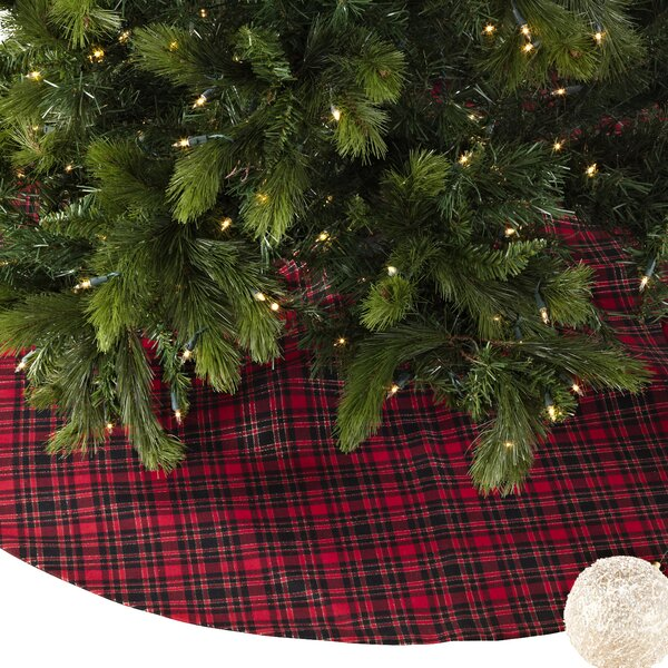 Plaid Christmas Tree Skirt by The Holiday Aisle