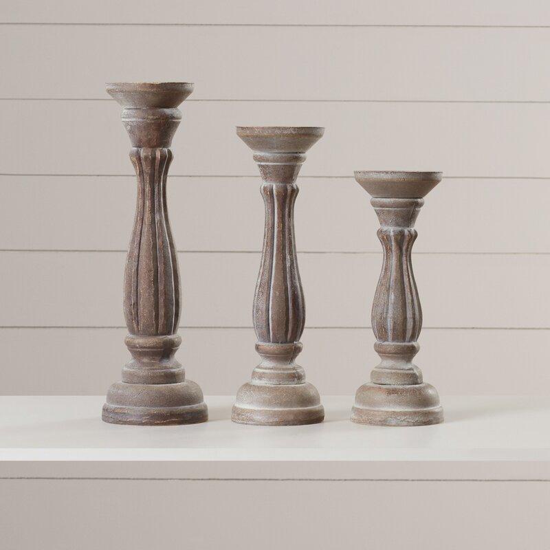 3-Piece Pillar Candlestick Set