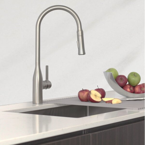 25 x 18 Undermount Kitchen Sink with Basket Strainer by Stylish